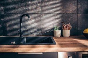hardwood cabinets kitchen