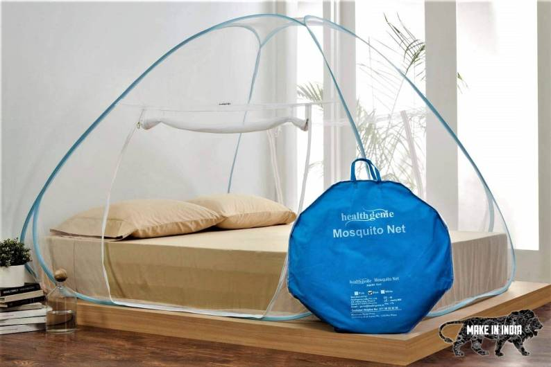 Healthgenie King Size Mosquito Net for Double Bed with Repair Kit