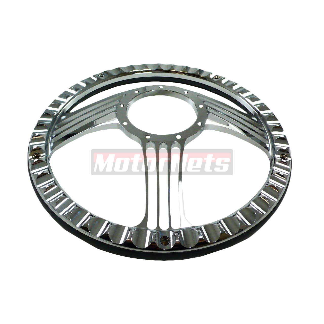 14 Slash Style Chrome Billet Aluminum Steering Wheel Half