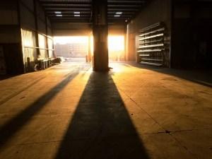 Warehouse for storing goods.