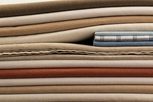 bunch of fabrics on top of each other