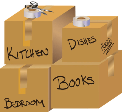 Some labeled boxes