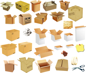drawing of different boxes