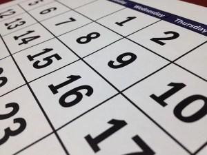 A calendar.