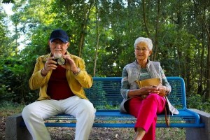 Moving to assisted living facilities - old people on the bench