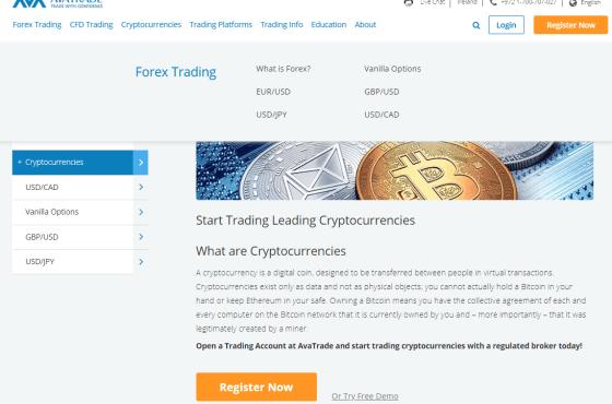 crypto trading with Avatrade
