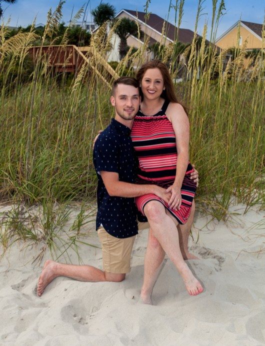 Couples photos in the Myrtle Beach Dunes