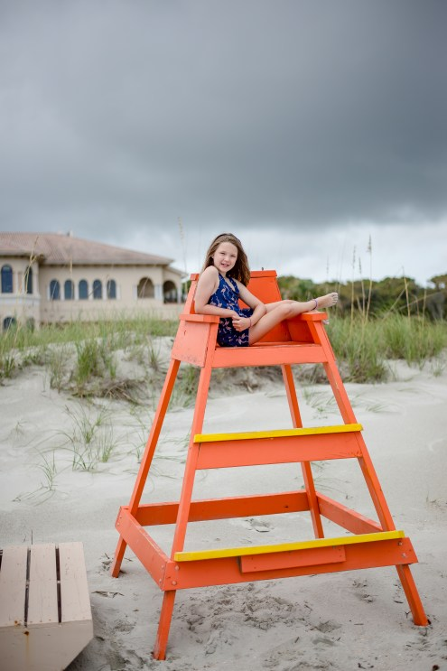 Lifeguard stand picture family beach portraits