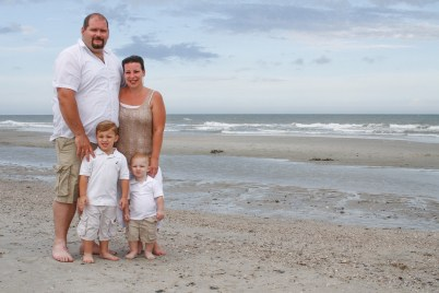 Family of 4 on Myrtle Beach