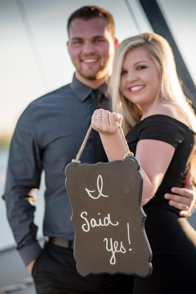 Surprise engagement proposal in Myrtle Beach.