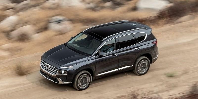 2022 Hyundai Santa Fe top view
