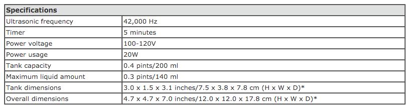 iSonicspecifications