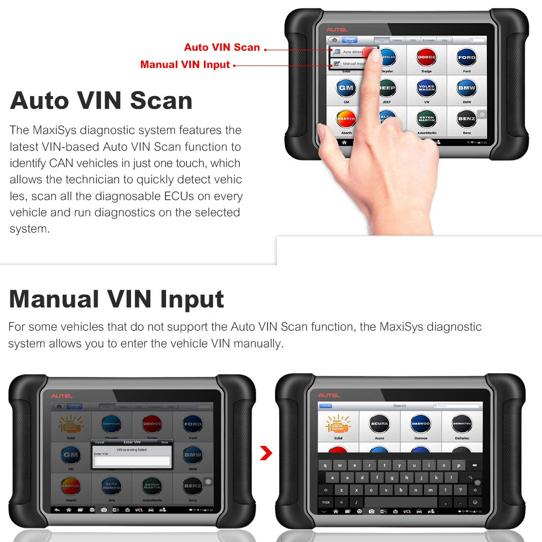 autel maxisys ms906bt scan tablet