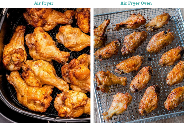 air fryer toaster oven cooking results wings