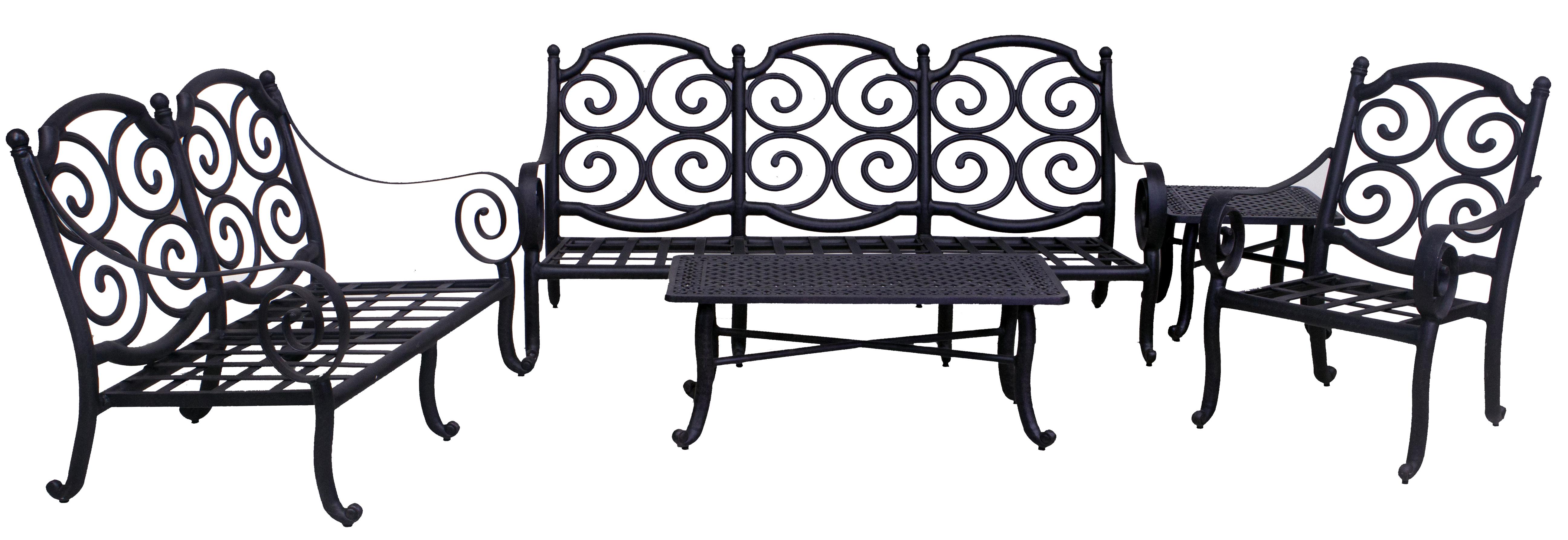 Wynn Collection Loveseat Sofa Club Chair End Table