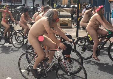 naked bike ride wig