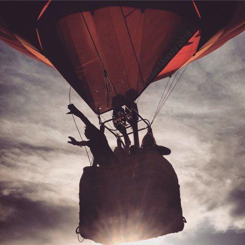 bristol balloon in the air