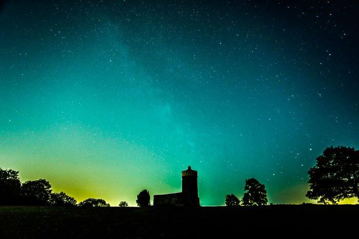 Bristol Observatory at night