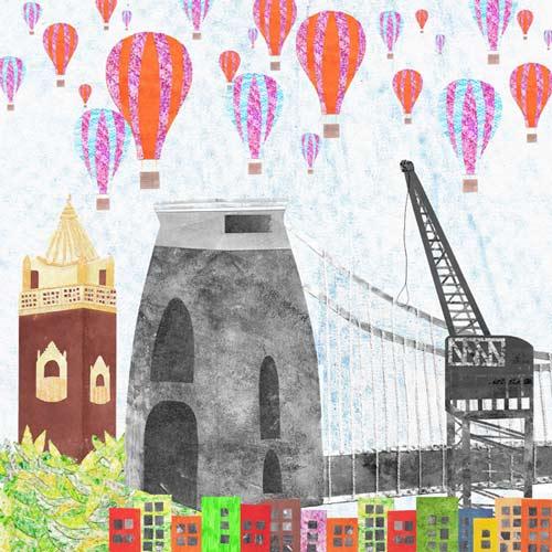 clifton suspension bridge painting