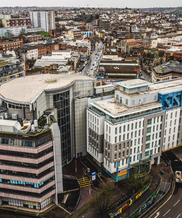 Stokes croft from above