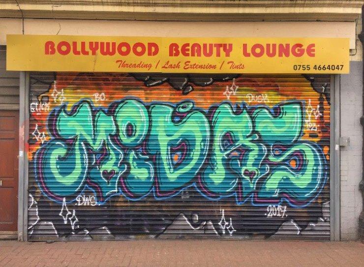 bollywood beauty lounge street art