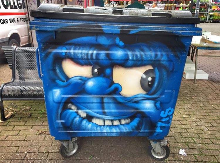 bin street art