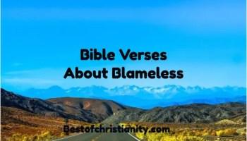 Bible Verses About Blameless