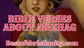 Bible Verses About Abishag