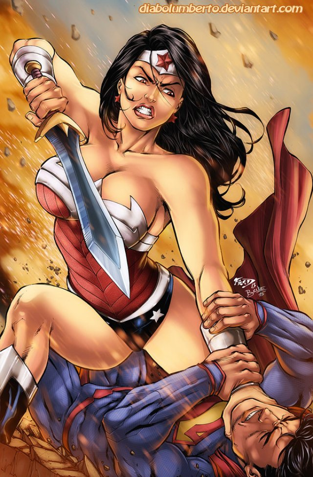 Wonder Woman Fight with Superman