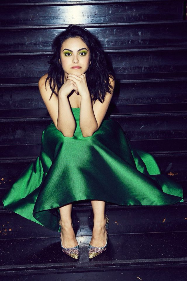 Camila Mendes Hot in Green Dress