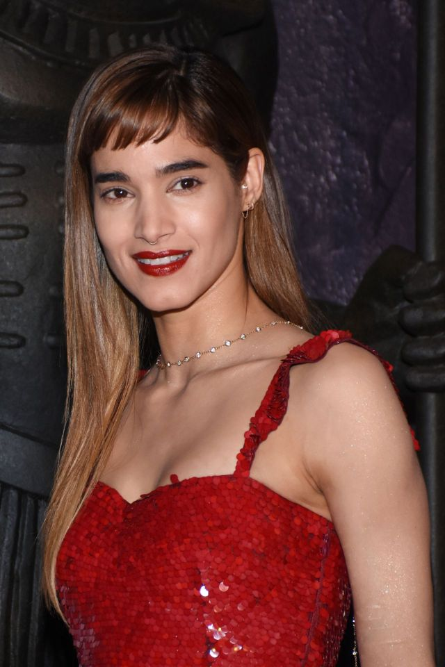 Sofia Boutella Sexy in Red Dress