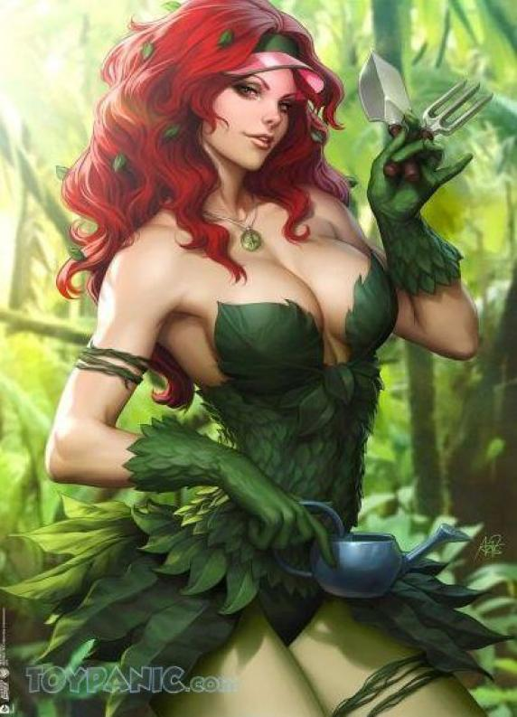 Poison Ivy Sexy Cleavage