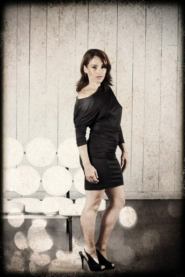Amy Jo Johnson Black Dress