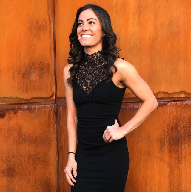 kacy catanzaro black dress