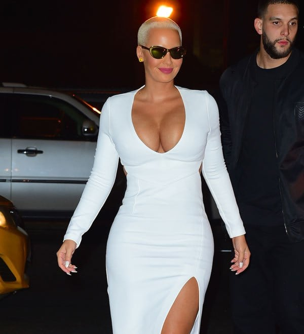 Amber Rose in White