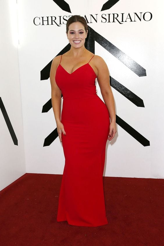 Ashley Graham Hot in Red