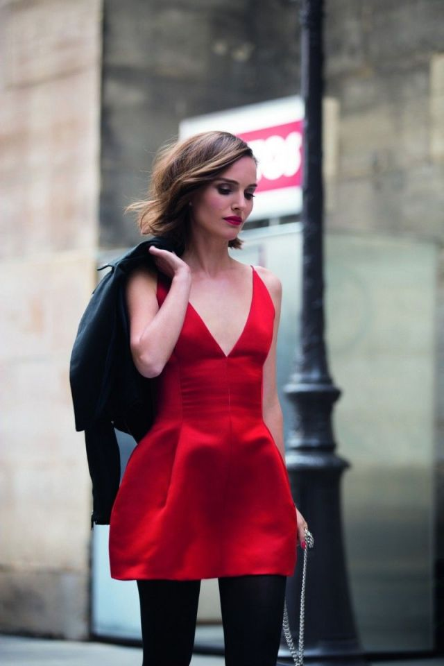 Natalie Portman on Red Dress
