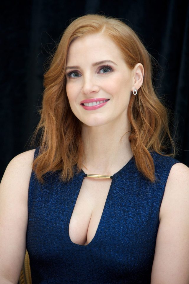Jessica Chastain Hot Cleavage