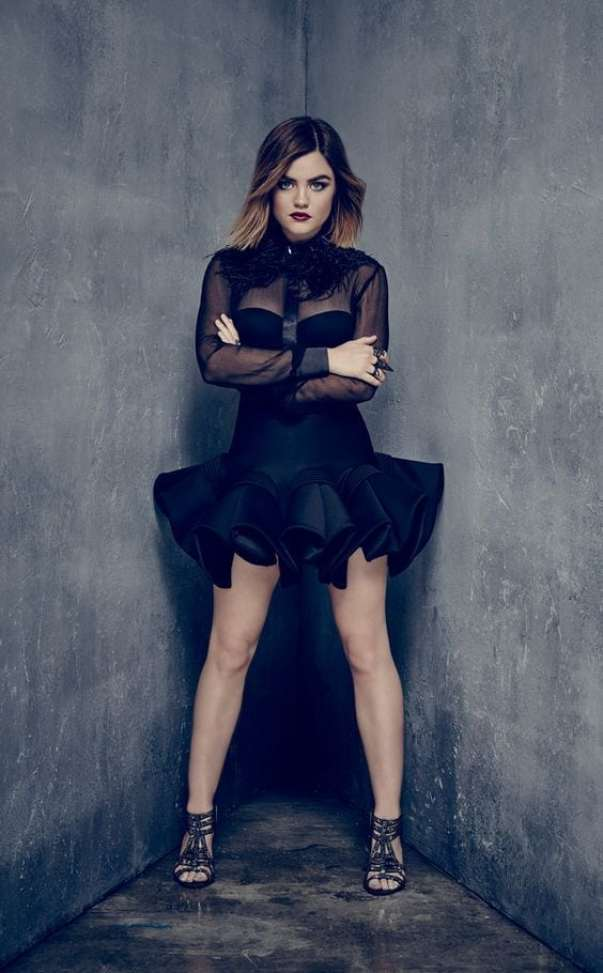 Lucy Hale Black Dress