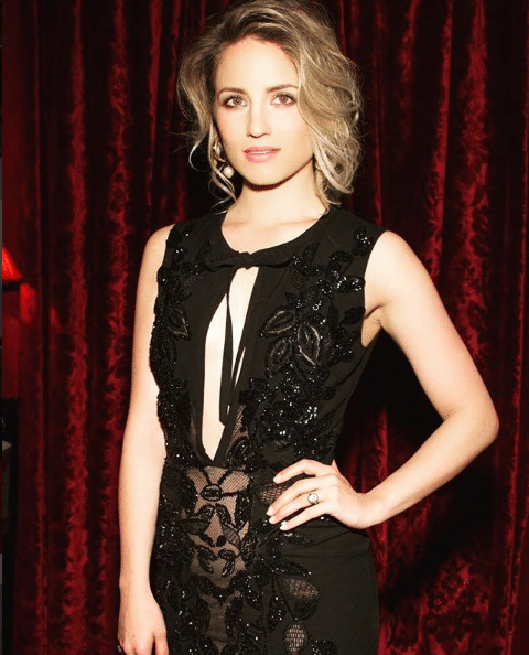 dianna agron black dress