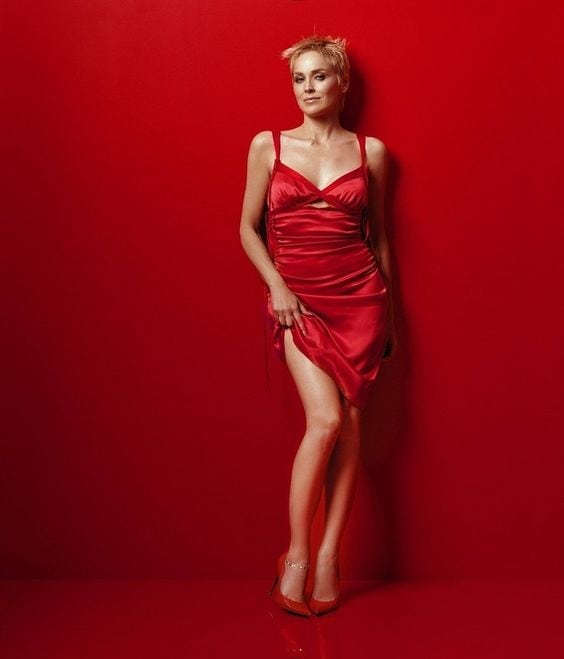 Sharon Stone Hot in Red