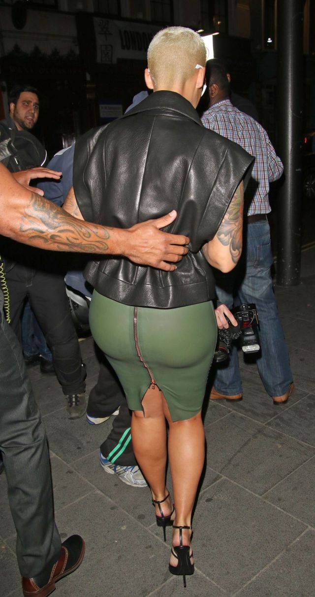 amber rose hottie back