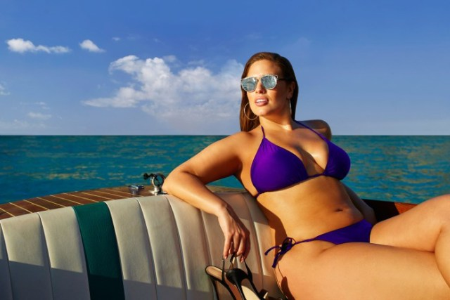 Ashley Graham on Boat