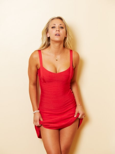 Kaley Cuoco's Hot in Red