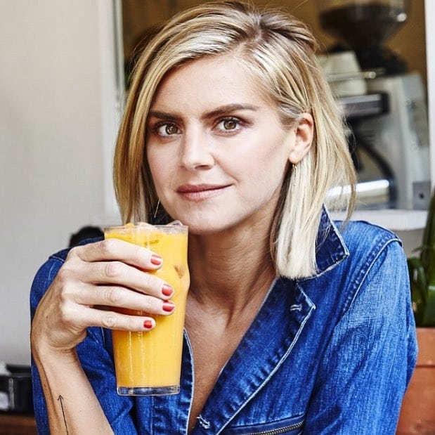 Eliza Coupe taking Juice