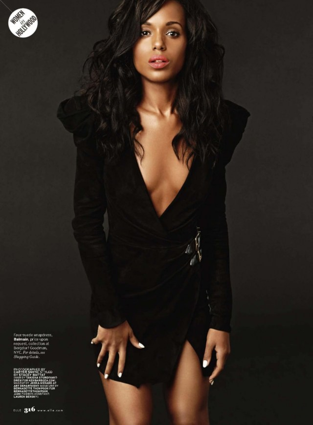 Kerry Washington Hot in Black