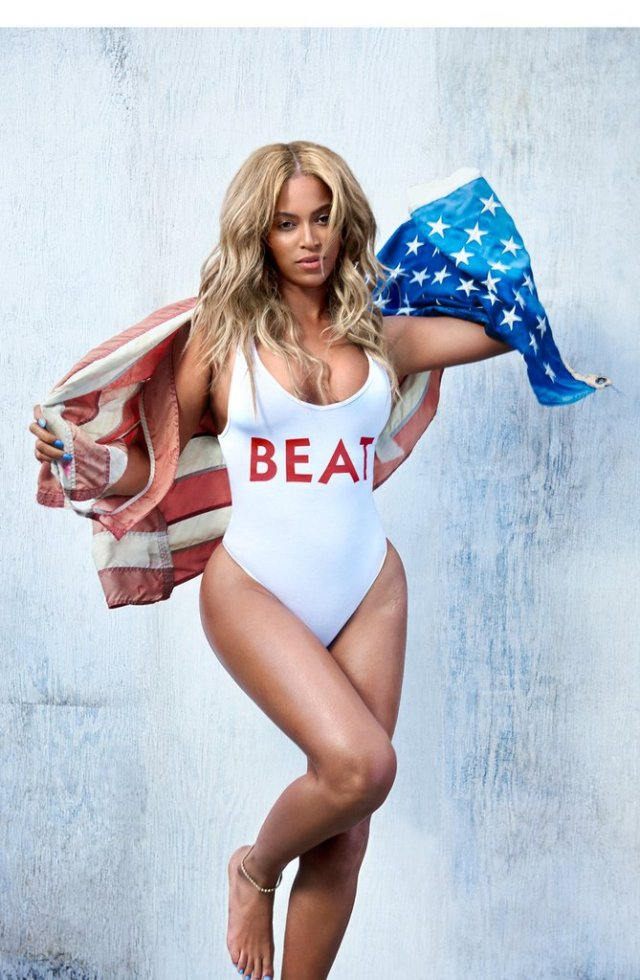 Beyonce in Swimming Costume