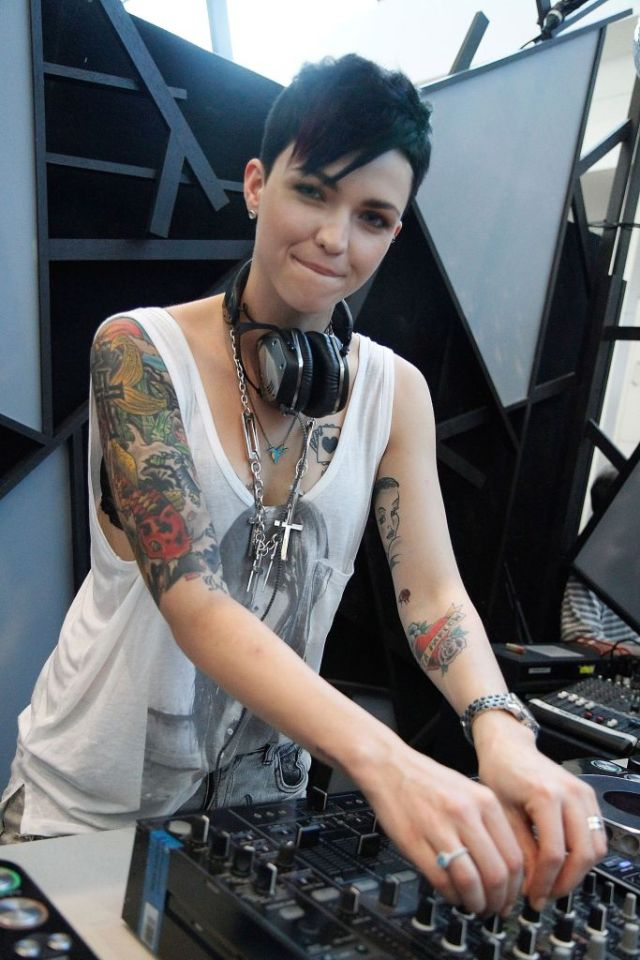 Ruby Rose Playing Music