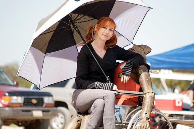 Kari Byron wearing Umbrella