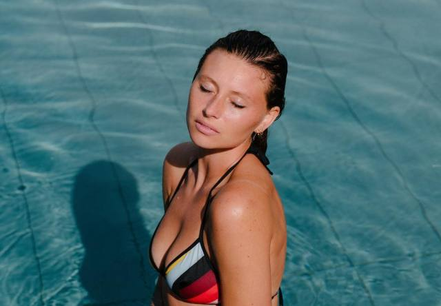Aly Michalka on Swimming